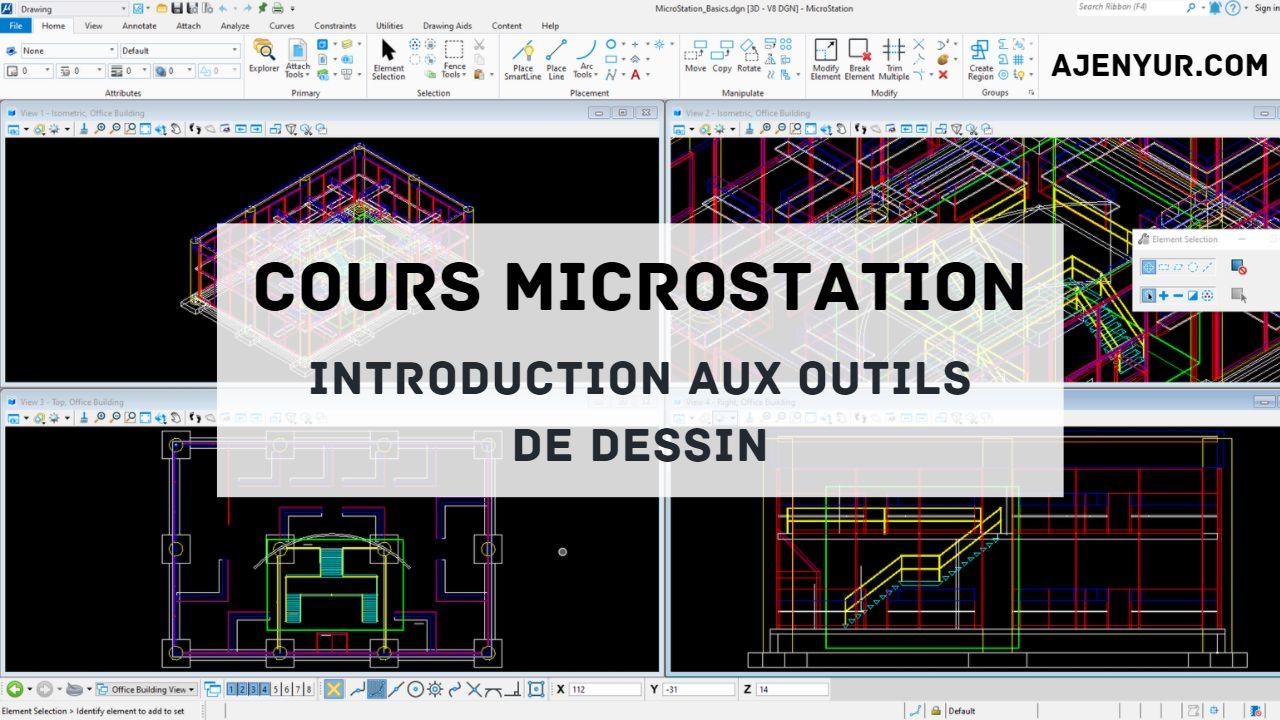 Formation MicroStation : Introduction aux outils de dessin