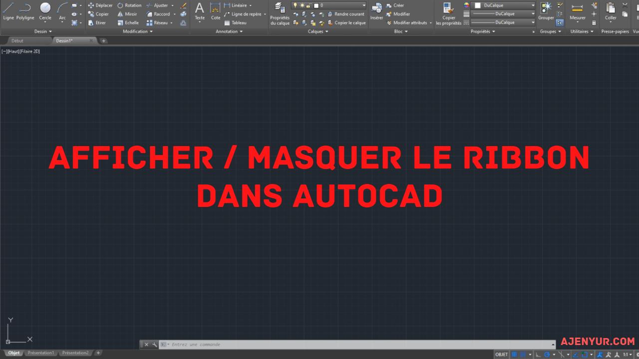Read more about the article Comment afficher / masquer le Ruban (Ribbon) dans AutoCAD ?
