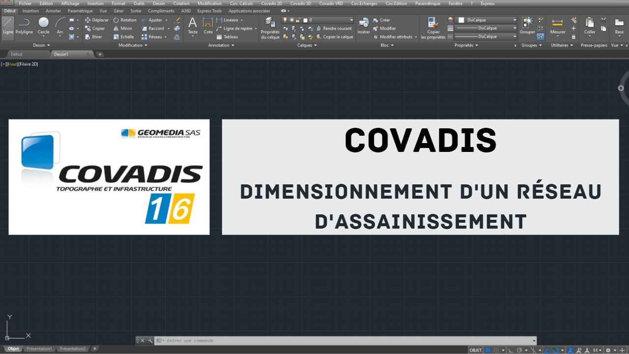Read more about the article Formation Covadis : Dimensionnement d'un reseau d'Assainissement